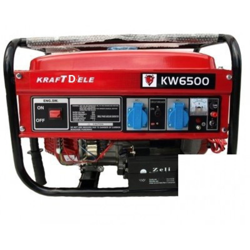 Генератор KraftWele Germany OHV 6500 6.5 кWa 1 фазный, бензин, ручной старт