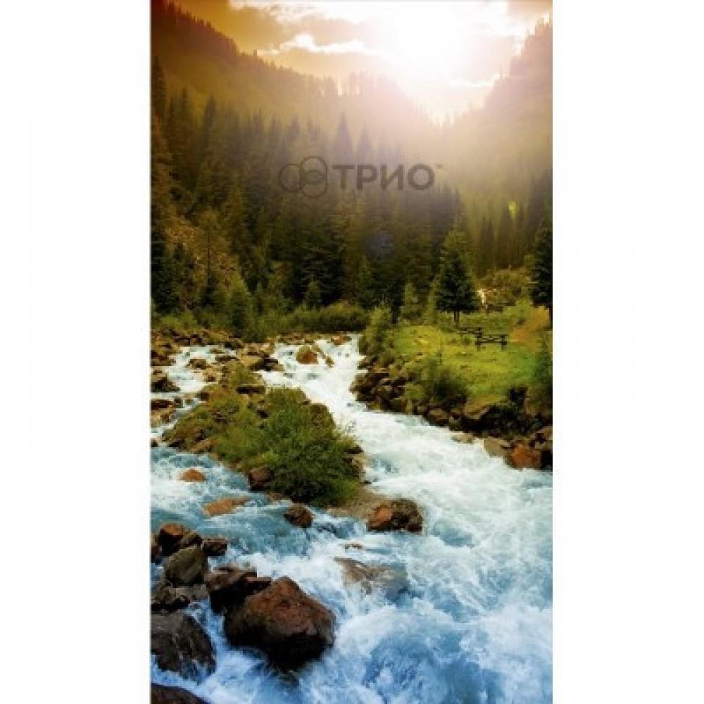 Карбоновый обогреватель - картина Трио  Горная река настенный