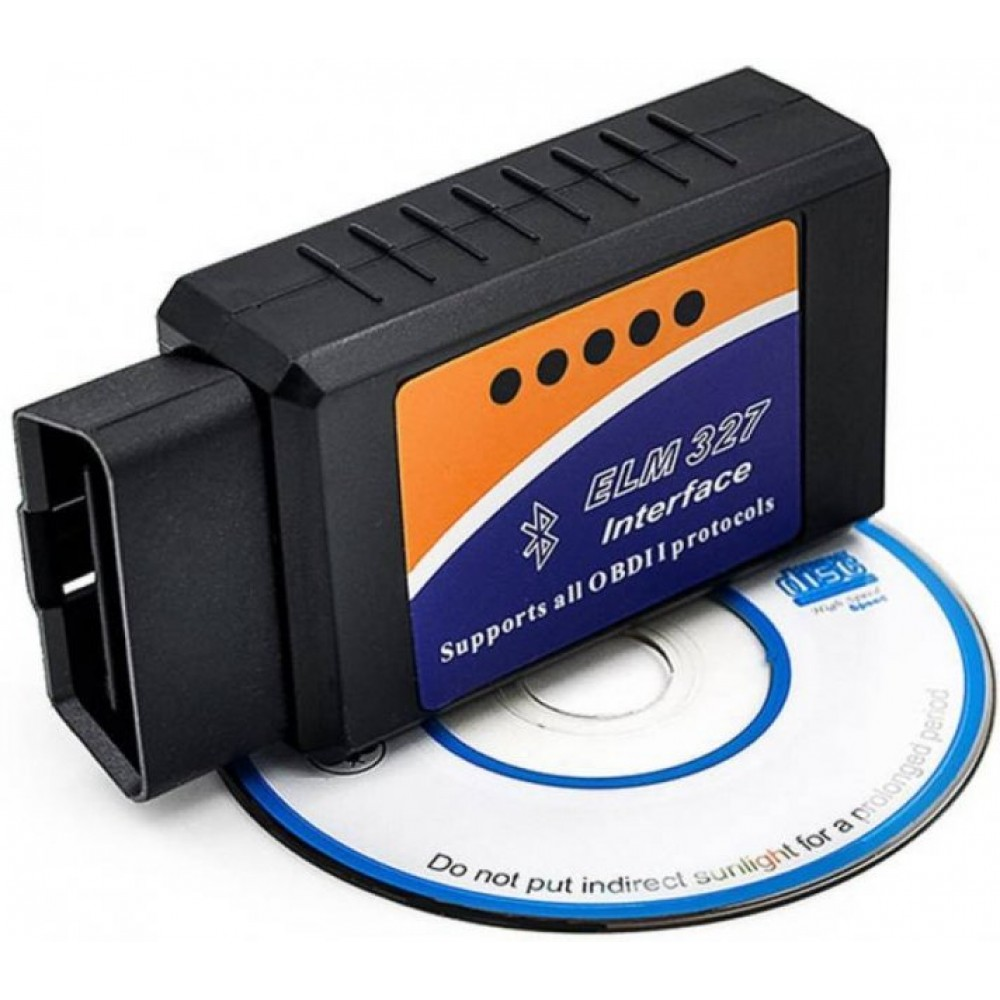Диагностический OBD2 автосканер адаптер ELM327 Блютуз v2.1, поддержка Android