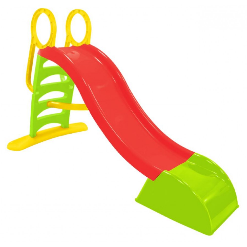 Детская горка пластиковая Mochtoys 180 см красная