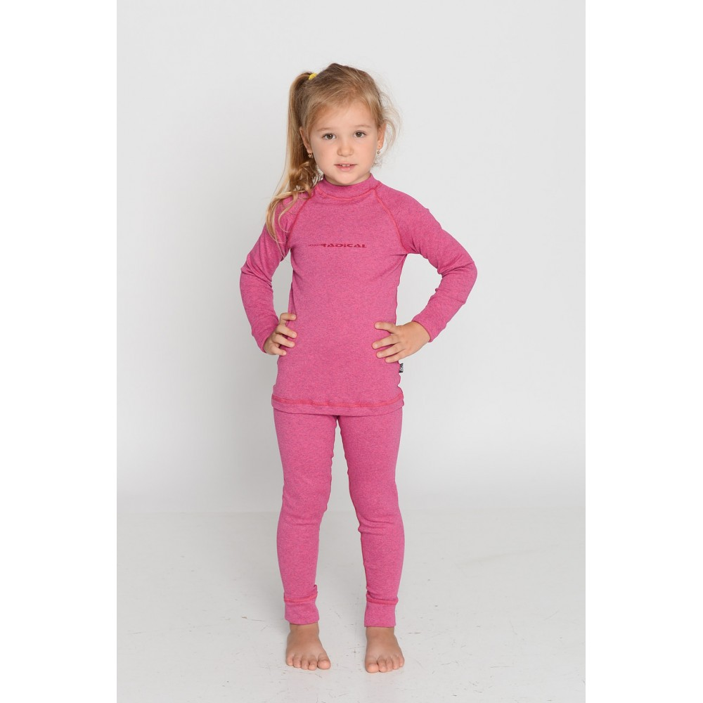 Детское термобелье Radical Snowman (original), теплое зимнее комплект Pink