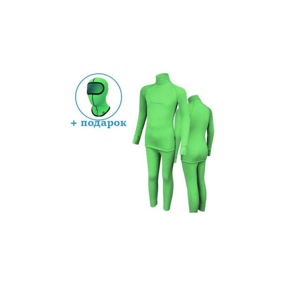 Детское термобелье Radical Snowman (original), теплое зимнее комплект Green