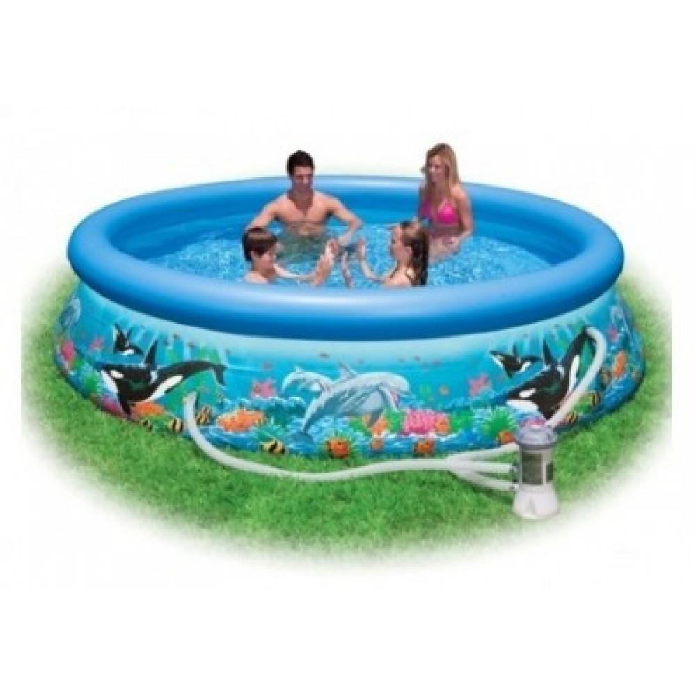 Бассейн надувной Intex 28136 Ocean Reef Easy Set Pool 366*76 см