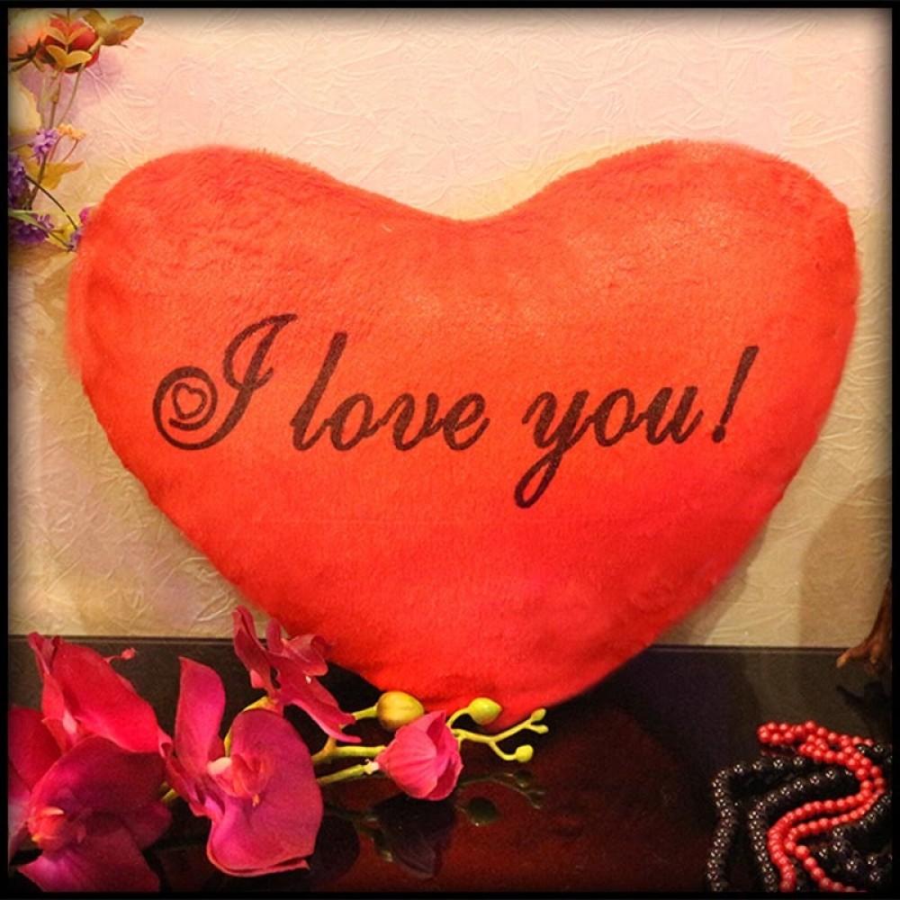 Подушка- ночник сердечко I love You