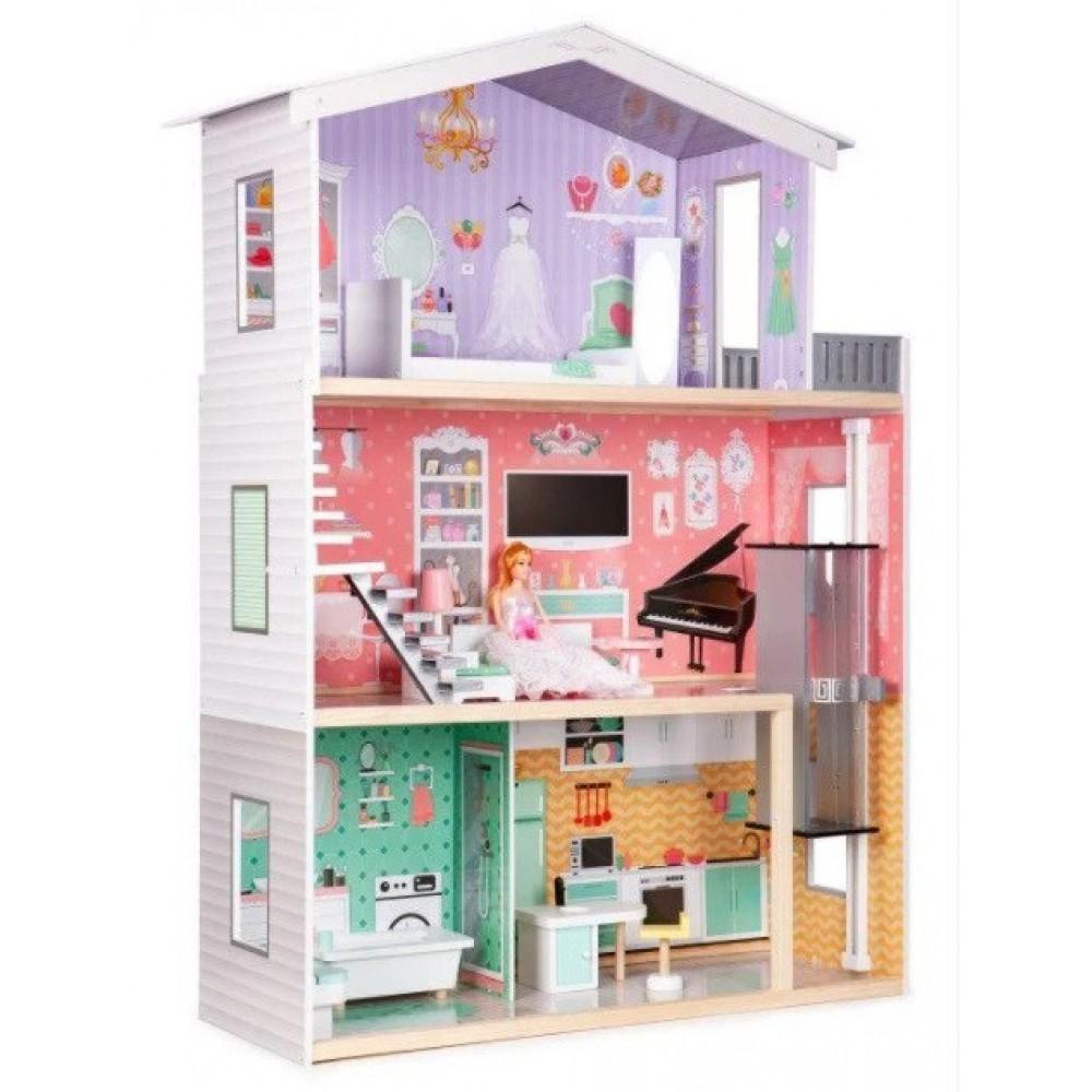 Игровой кукольный домик для барби Ecotoys 44128 Candy + лифт