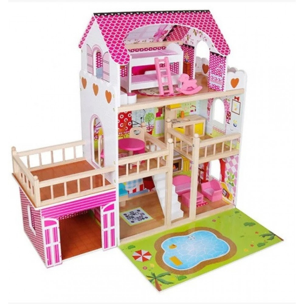 Кукольний домик Avko 44334 Вилла Венеция + гараж + подсветка