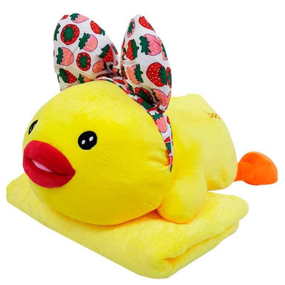 Игрушка плед трансформер 3 в 1 Happy Toys микрофибра, 29133, цыпленок