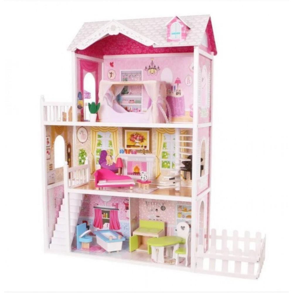 Игровой кукольный домик для Барби Ecotoys California 4107fm + терраса