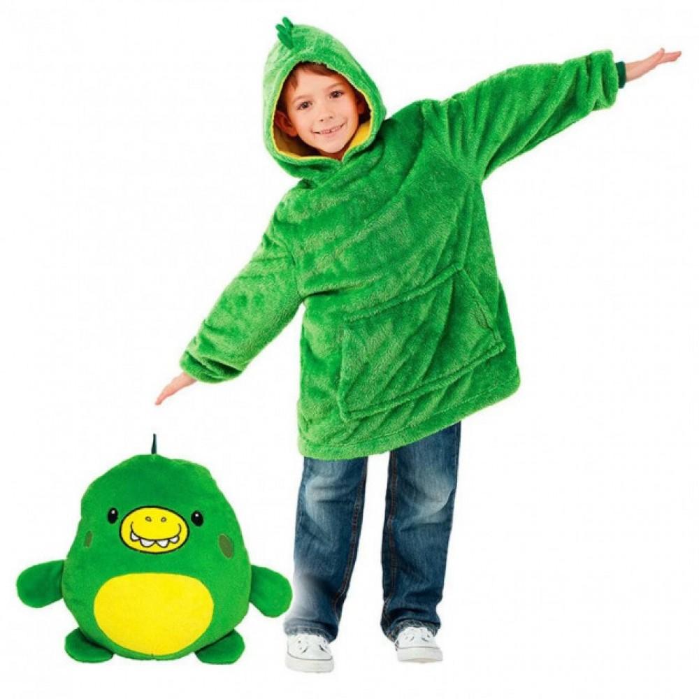 Детская игрушка-толстовка плед трансформер с капюшоном и рукавами Huggle Pets Hoodie