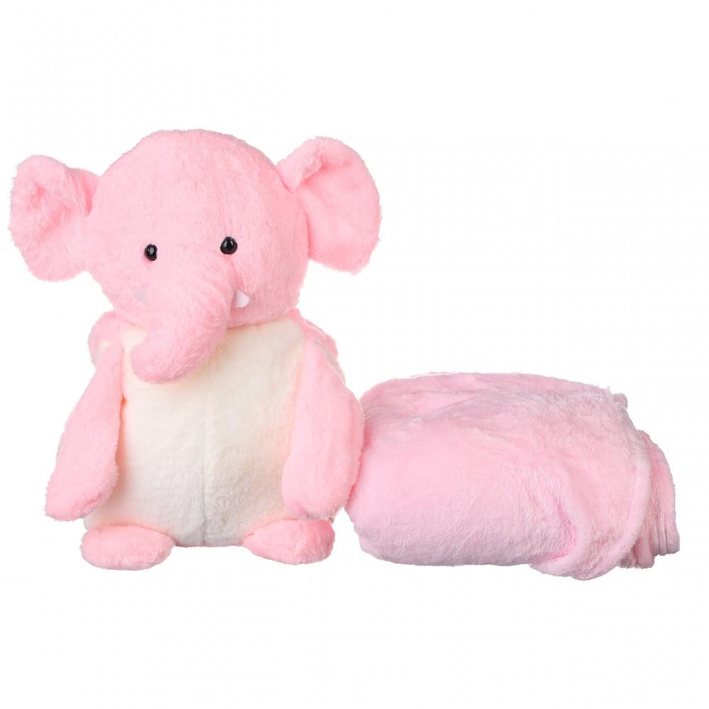 Игрушка плед трансформер 3 в 1 Happy Toys микрофибра, 29382, слон с иклами