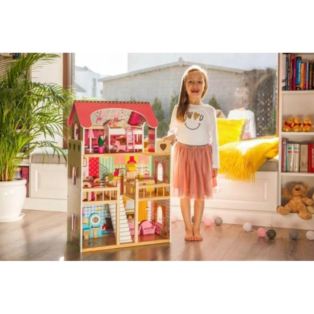 Игровой кукольный домик Ecotoys 4109 Roseberry + 2 куклы