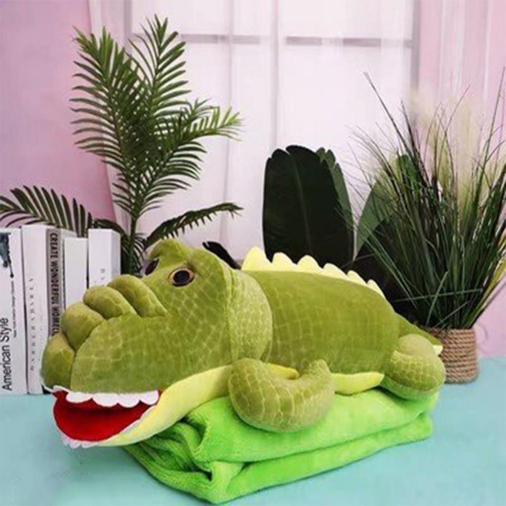 Игрушка плед трансформер 3 в 1 KOLOCO микрофибра, 9527-3, крокодил