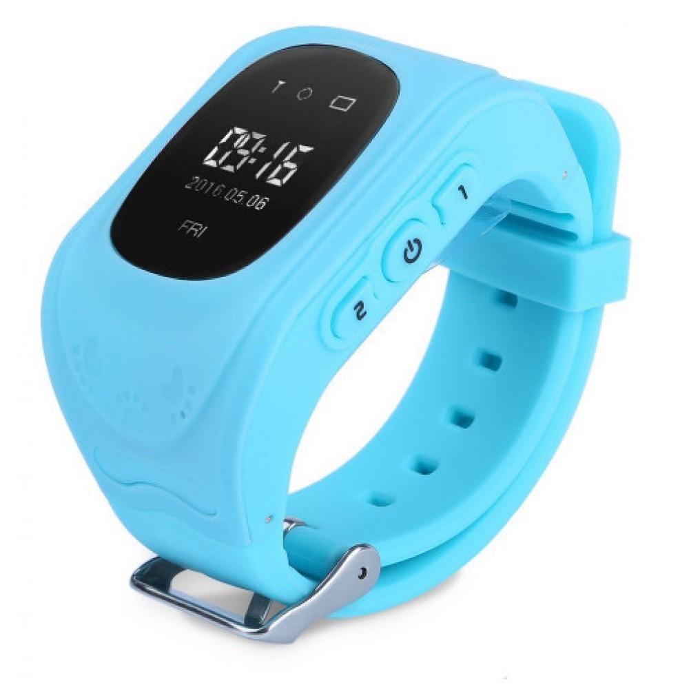 Умные детские часы с GPS UWatch Q50, голубые
