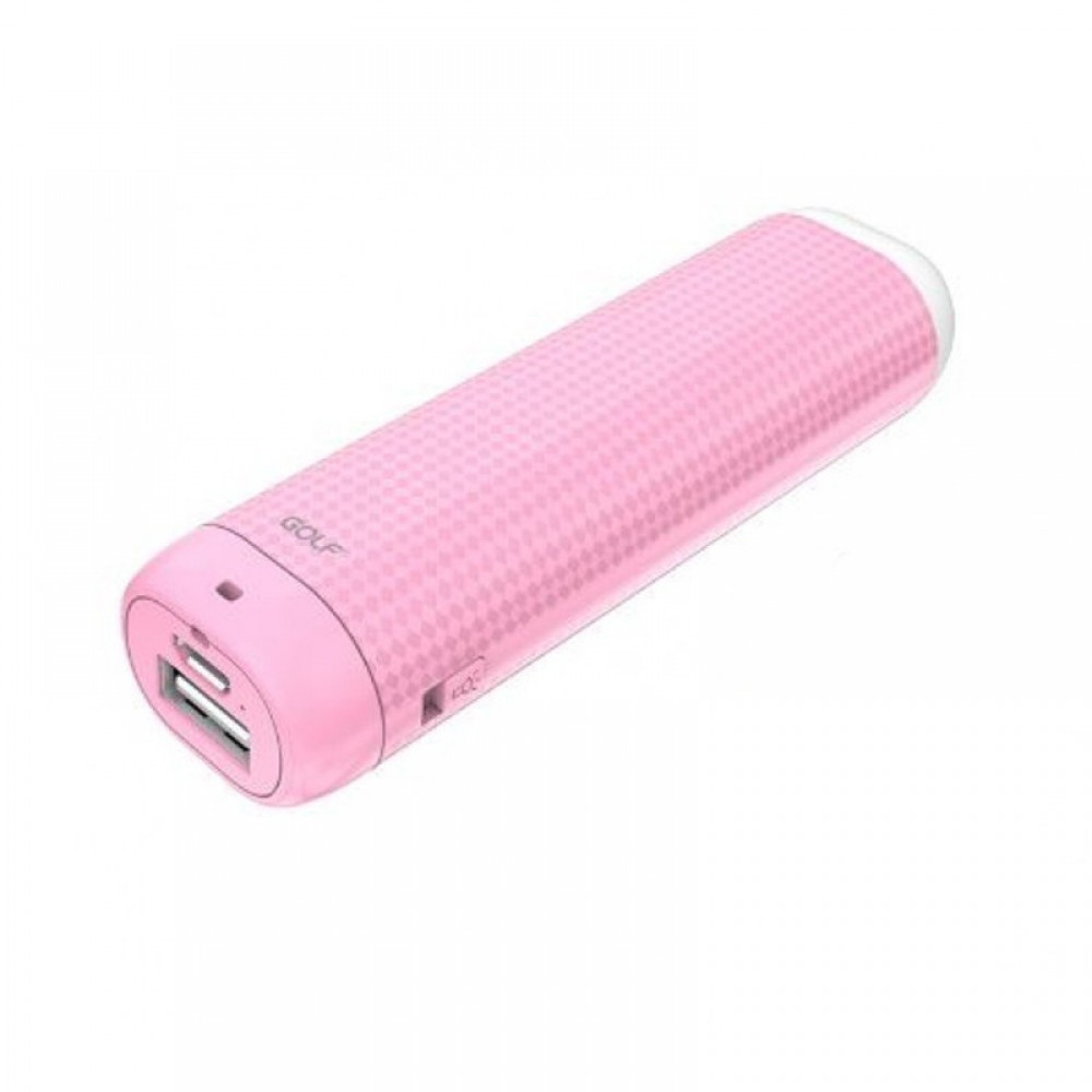 Внешний аккумулятор Power bank Golf Lonsmax GF-D1S 200 0mAh Pink