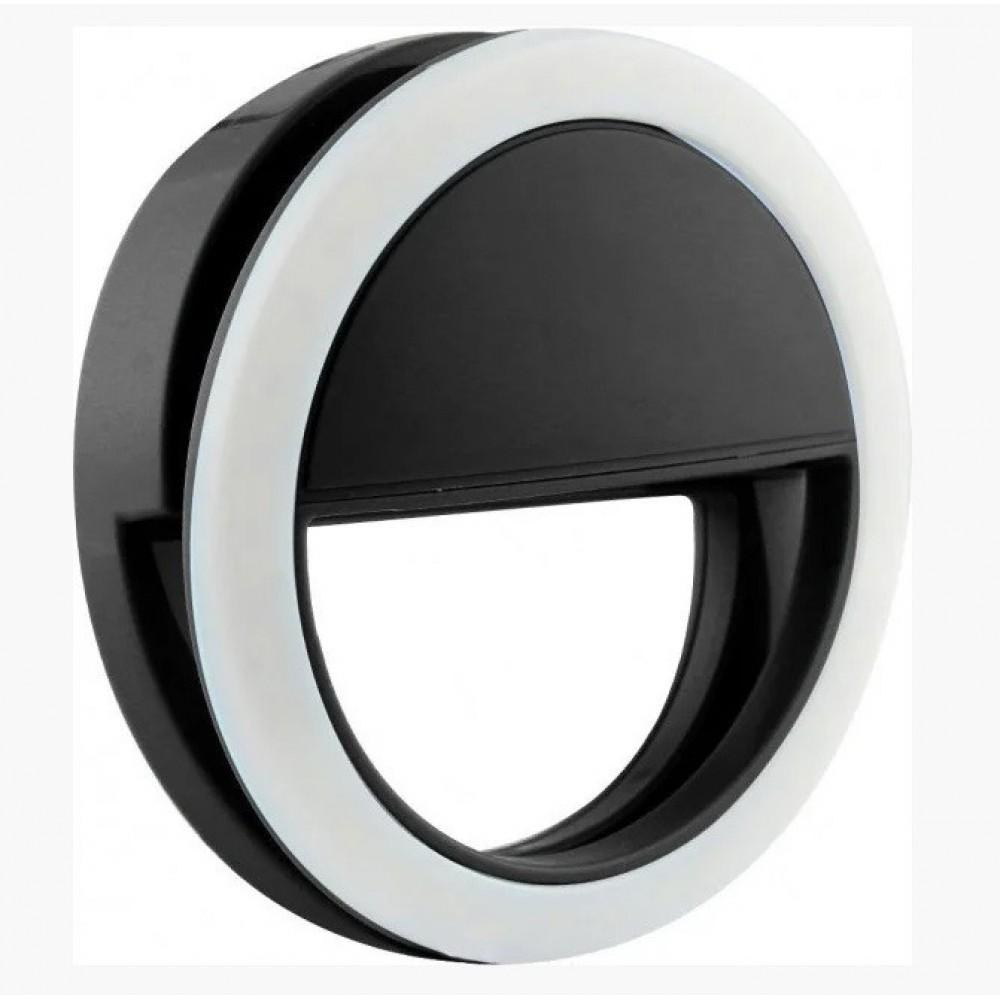 Подсветка для телефона селфи-кольцо SmartTech XJ-01 от батареек черный 11637