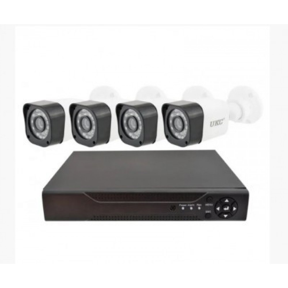 Комплект видеонаблюдения UKC D001-4CH Full HD 1080P 3.6 мм 1 mp 4 камеры 3263