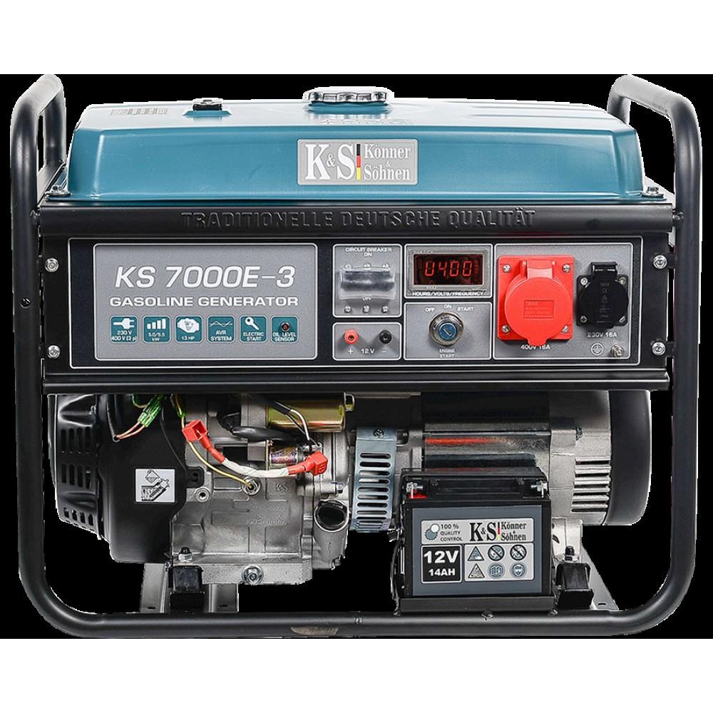 Генератор бензиновый Konner&Sohnen KS 7000E-3 5.5кВт трехфазный Германия