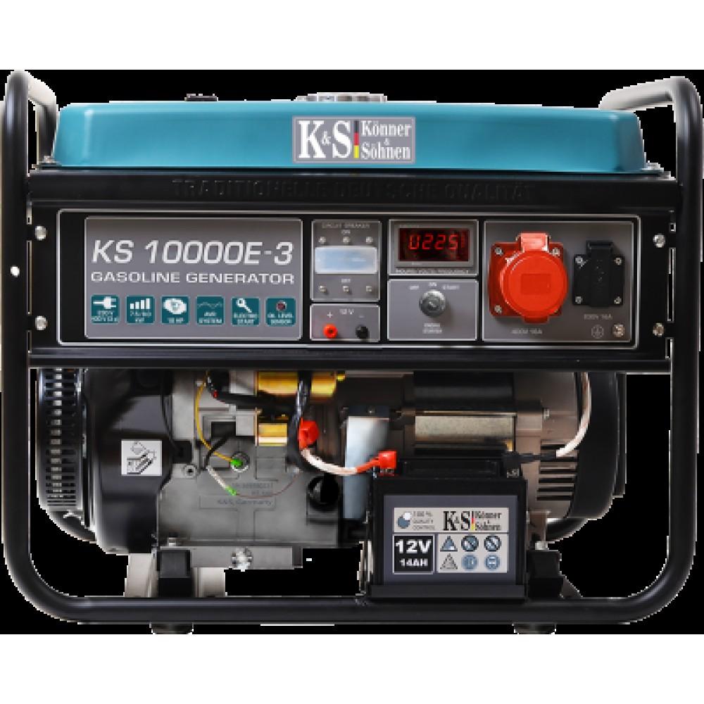 Генератор бензиновый Konner&Sohnen KS 10000E-3 8.0кВт трехфазный Германия