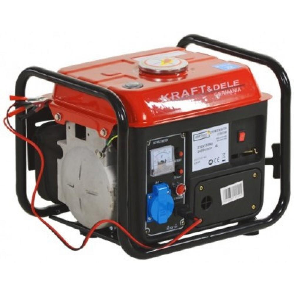 Генератор Kraftdele 1.5 кВт, 1 фазный, 2-х тактный, Германия