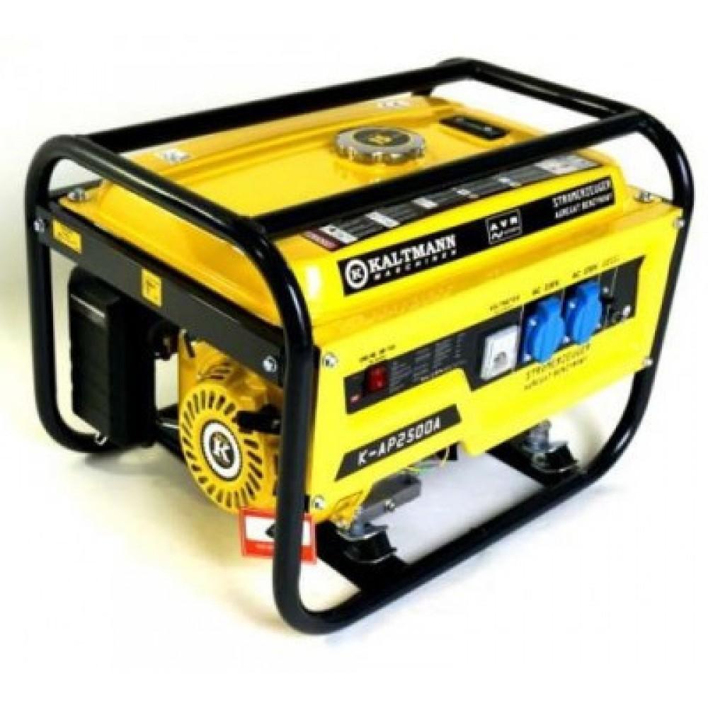 Генератор Kaltmann K-AP2500A бензин 2,5 кВт, AVR японский карбюратор, ручной пуск
