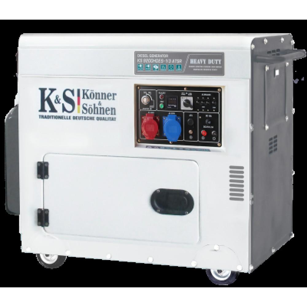Генератор дизельный KONNER&SOHNEN KS 9200HDES-1/3 ATSR «HEAVY DUTY» 7.5кВт одно/трехфазный Германия