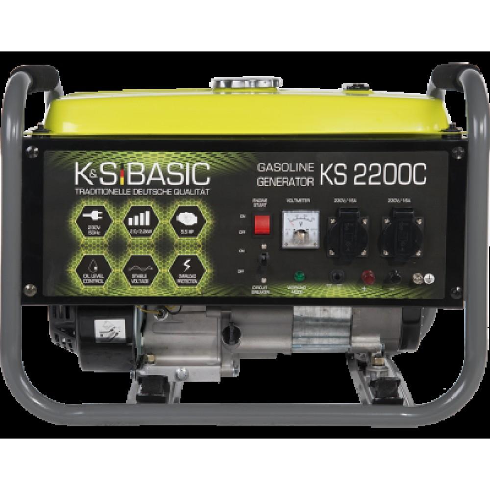 Генератор бензиновый Konner&Sohnen BASIC KS 2200 С 2.2кВт однофазный Германия