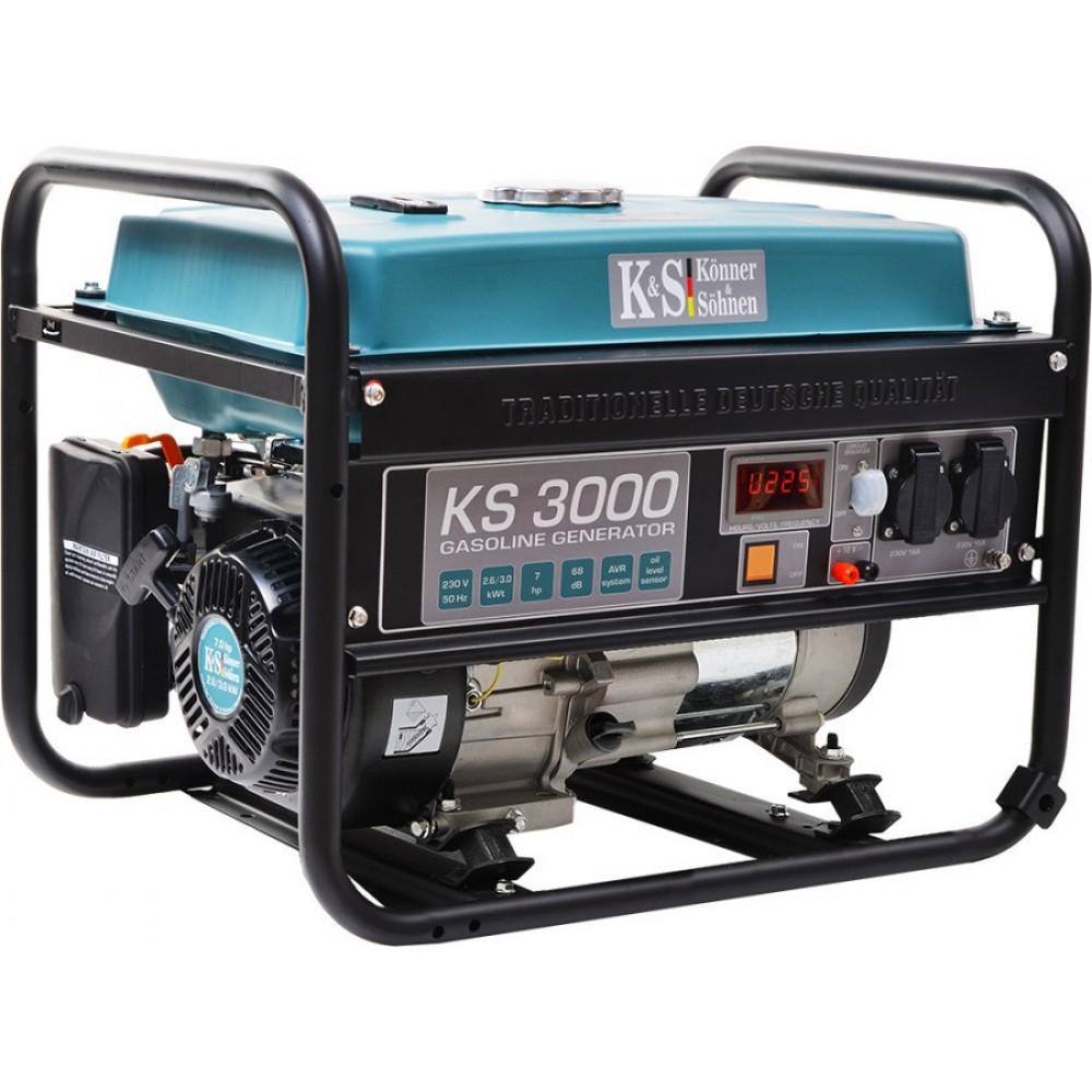 Генератор бензиновый Konner&Sohnen KS 3000Е 3.0кВт однофазный Германия