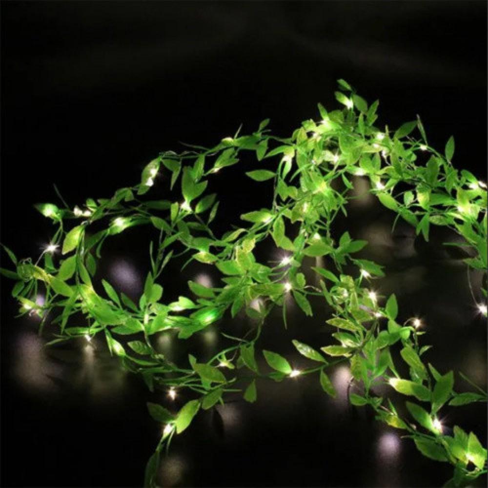 Гирлянда новогодняя Xmas Листья Ивы 3 х 1 м Теплый белый