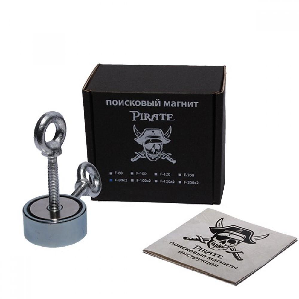 Поисковый магнит Пират F-80*2