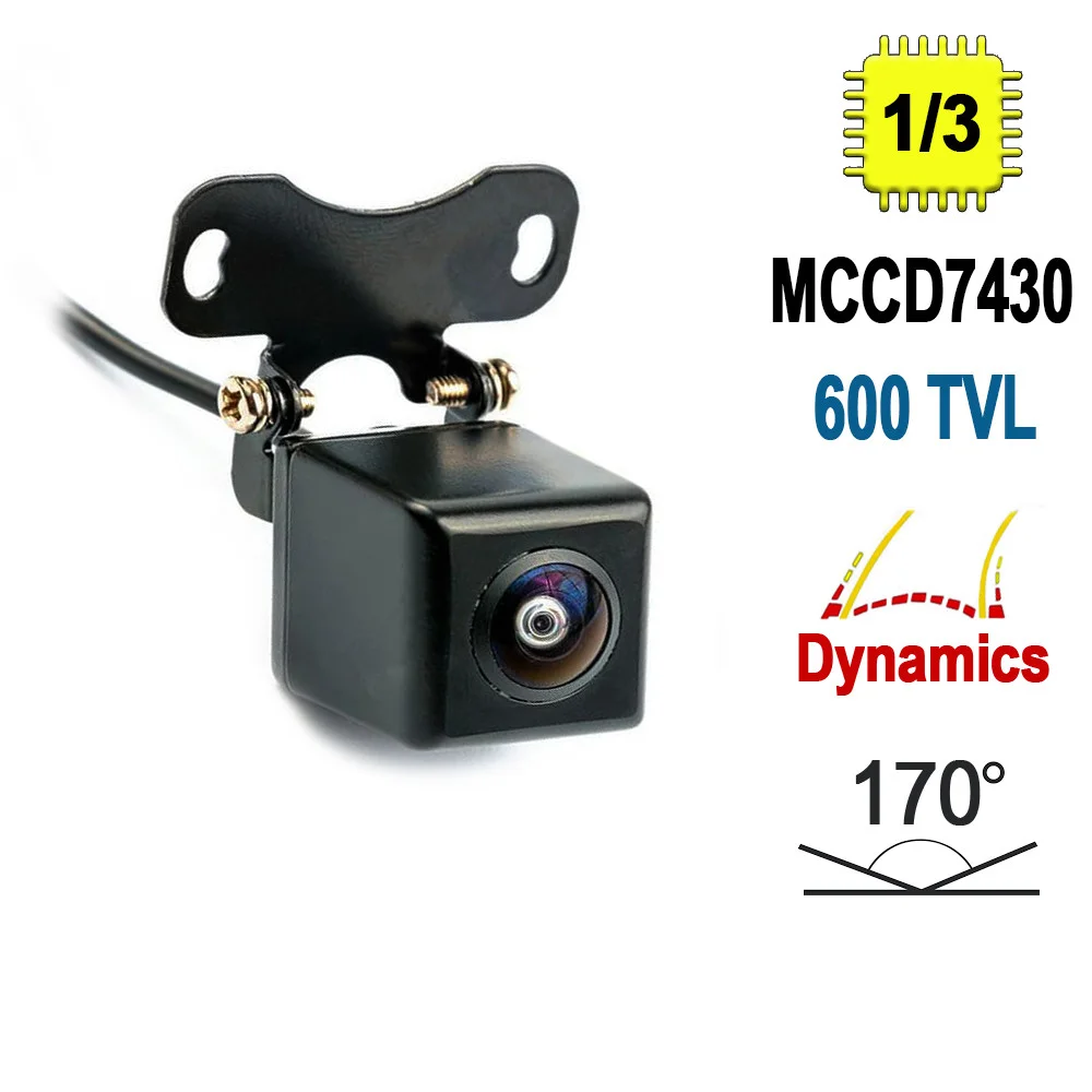 Автомобильная камера заднего вида Terra HD-661M, 480 ТВЛ, поворачивающиеся линии парковки, сенсор MCCD7430