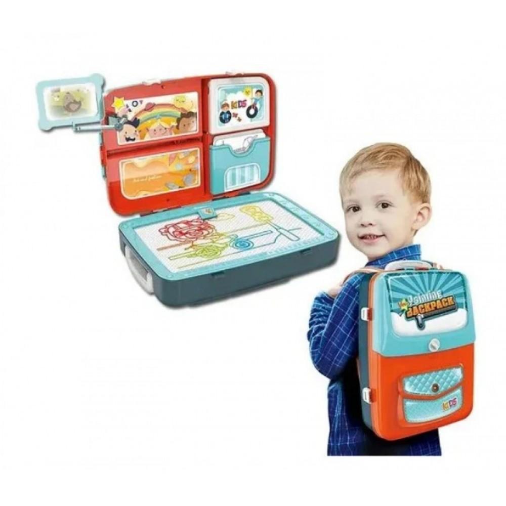 Обучающий набор для рисования Backpack packing 3in1 синий.