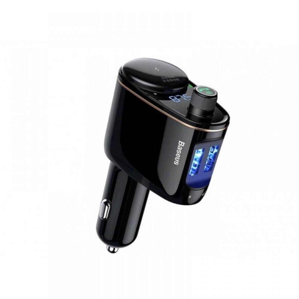 FM-модулятор Baseus Locomotive, Bluetooth, MP3, c функцією зарядного пристрою Black