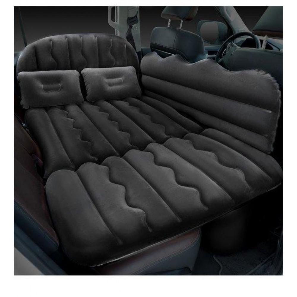 Автомобильный матрас в машину на заднее сиденье с насосом, 4 клапана, черный