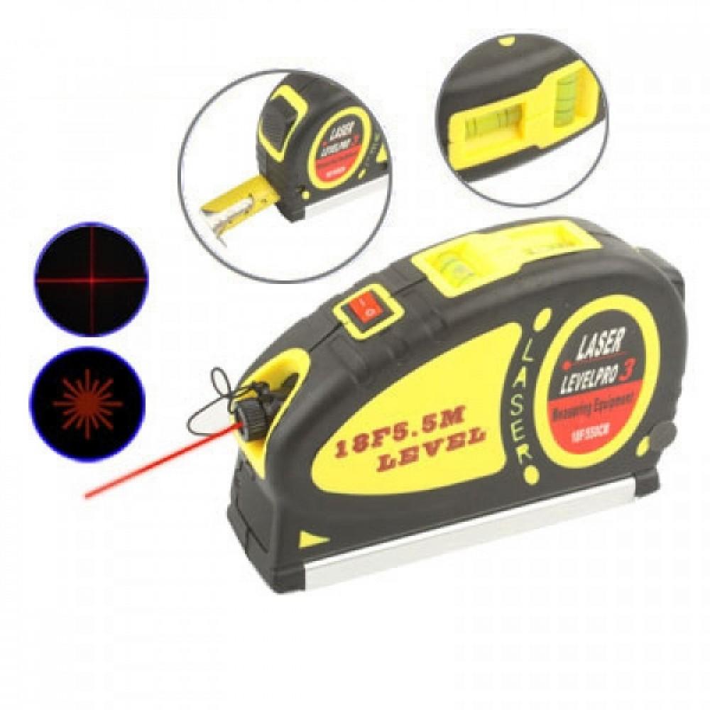 Лазерный уровень LevelPro3 Laser LV-05 с рулеткой 5,5 м