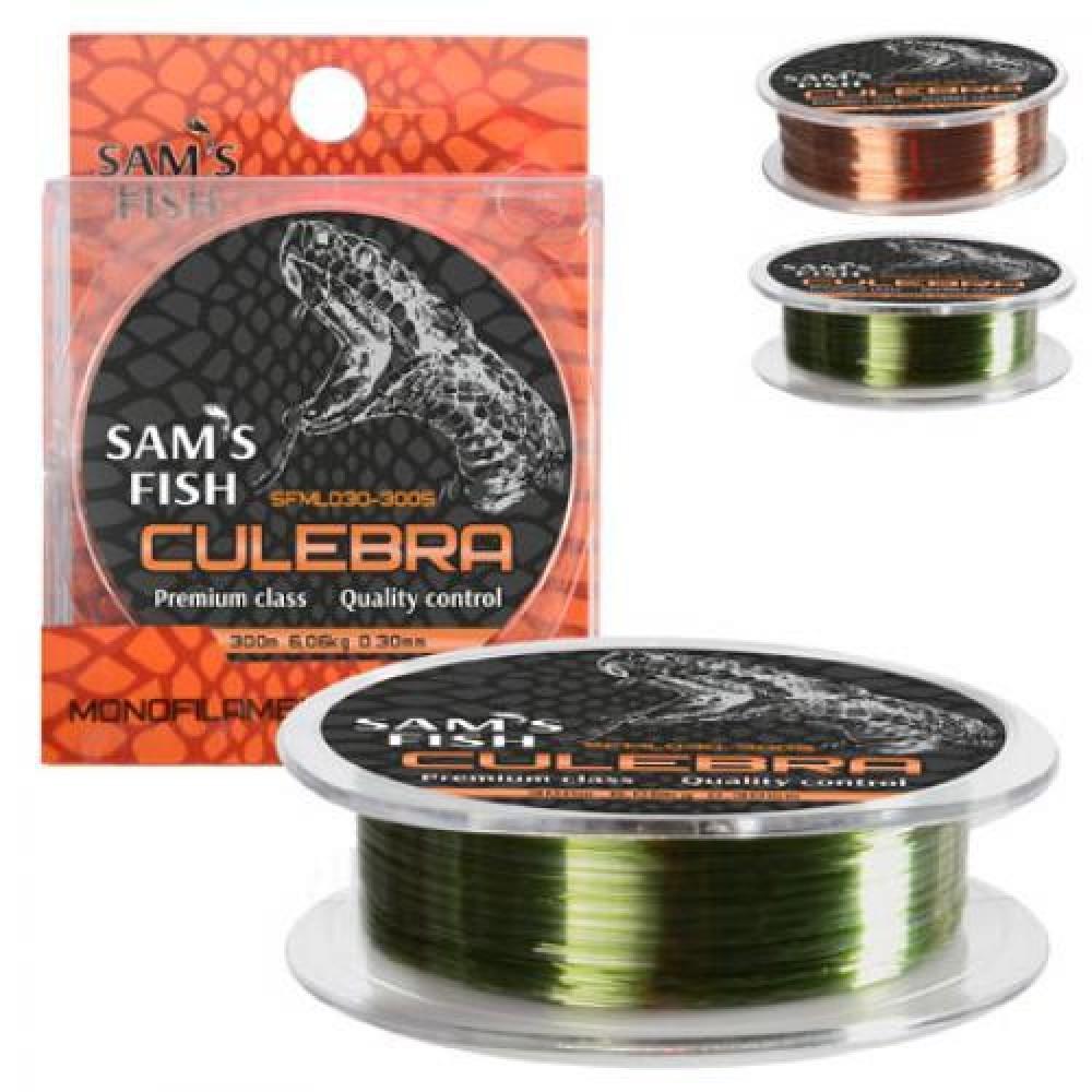 """Леска нейлон Sams Fish """"Culebra"""" 300 м х 0.30 мм, SFML030-300S"""