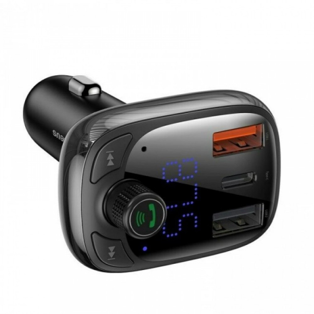 FM-трансмітер Baseus T typed S-13 wireless MP3 car charger, PPS Quick Charger-EU Black