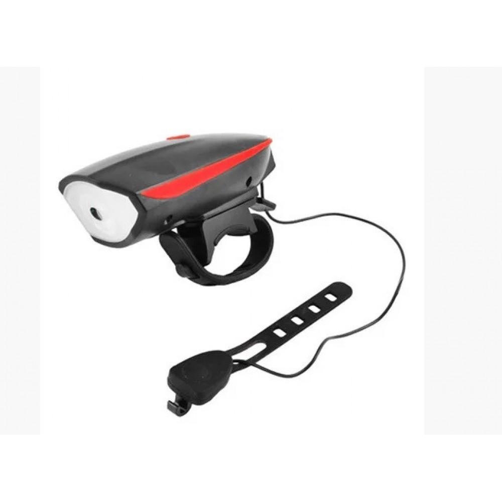 Велосипедный фонарь с велосипедным звонком 758