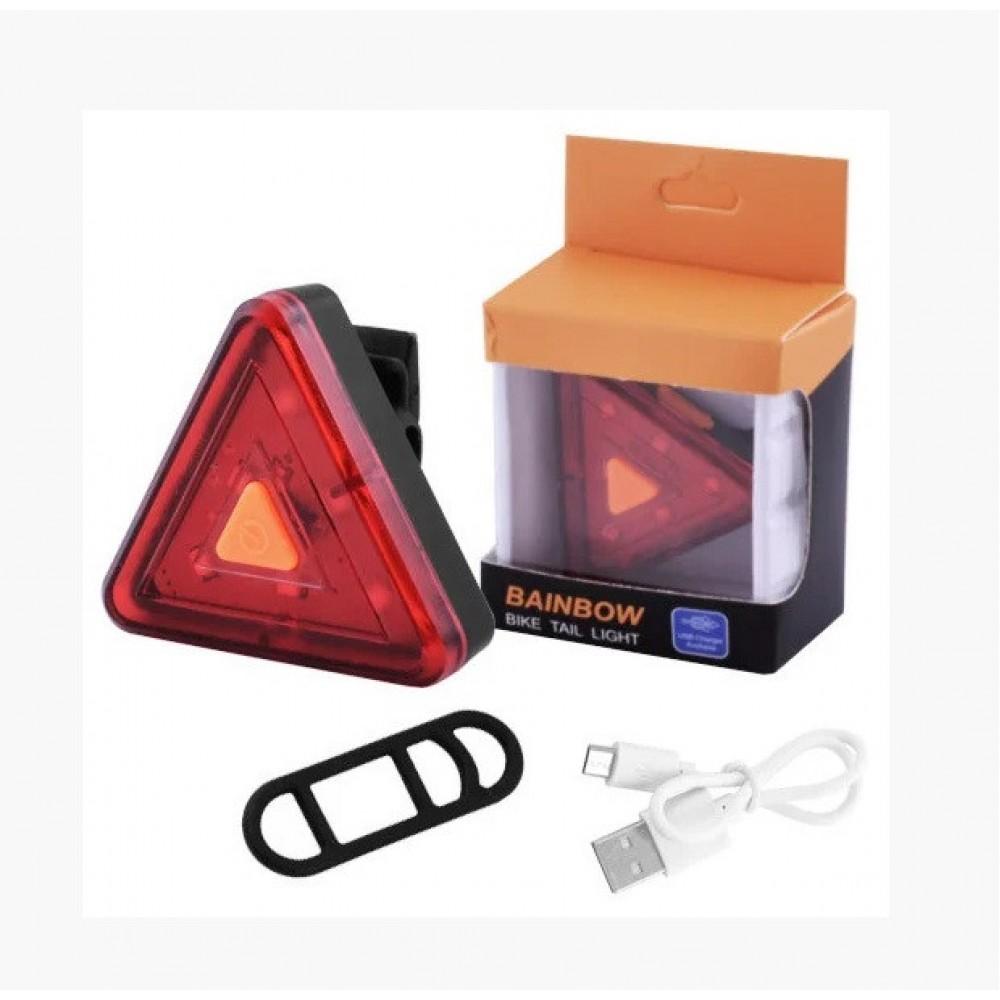 Велосипедный фонарь XFL-108 6 LED задний габаритный micro USB встроенный аккумулятор