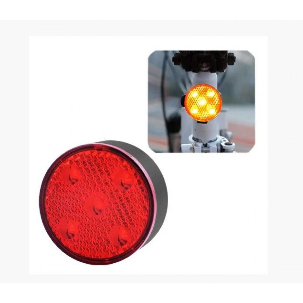 Велосипедный фонарь AQY-0113 5 LED задний габаритный micro USB, встроенный аккумулятор