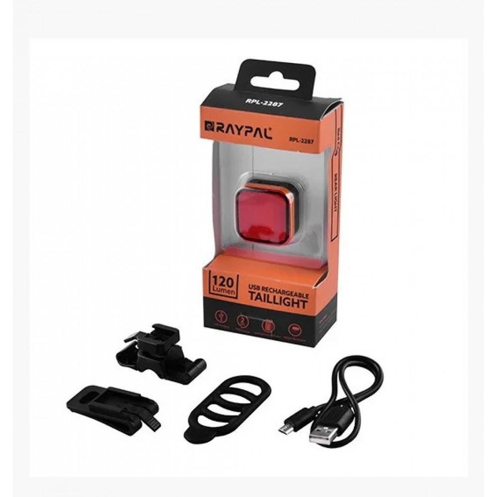 Велосипедный фонарь RPL-2287 COB задний габаритный micro USB, встроенный аккумулятор