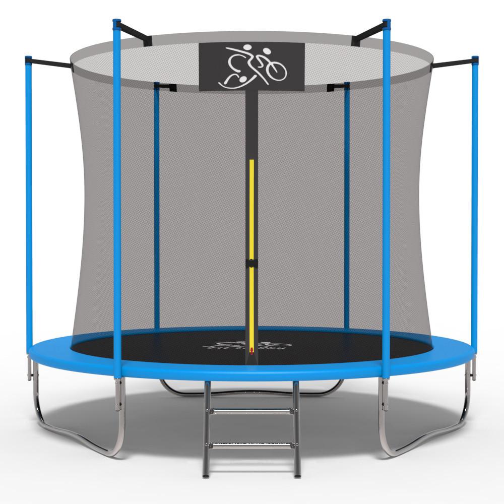 Батут FitToSky 183 см с внутренней сеткой синий 10204