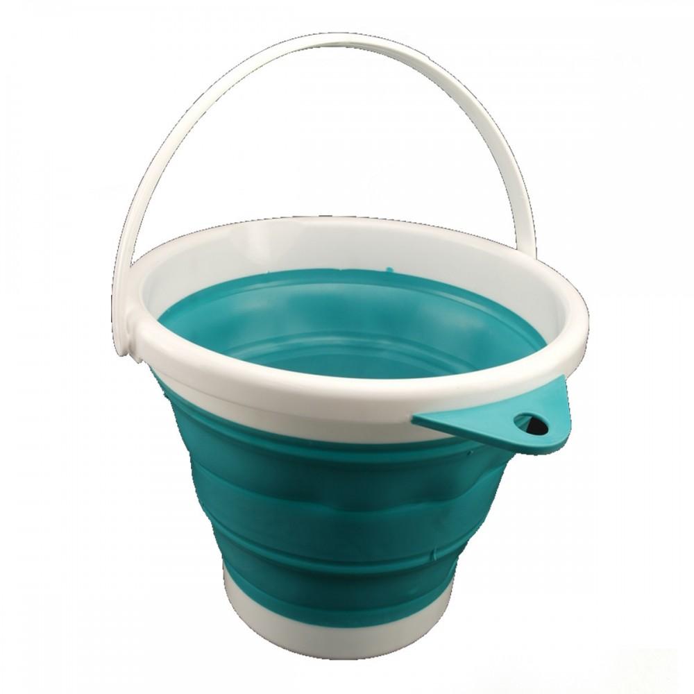Ведро складное Silicon Bucket 5 литров, 1980 C, бирюзовое