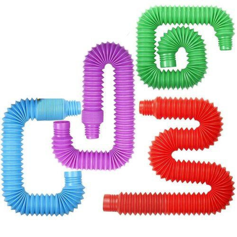 Антистресс детская игрушка Pop Tube, набор 4 шт