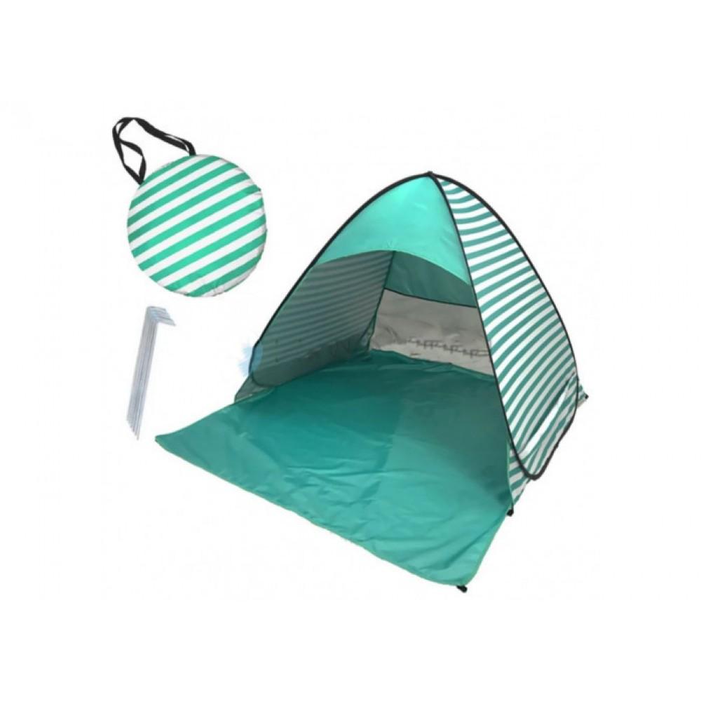 Палатка пляжная Stripe зелёная 150х165х110, автоматическая
