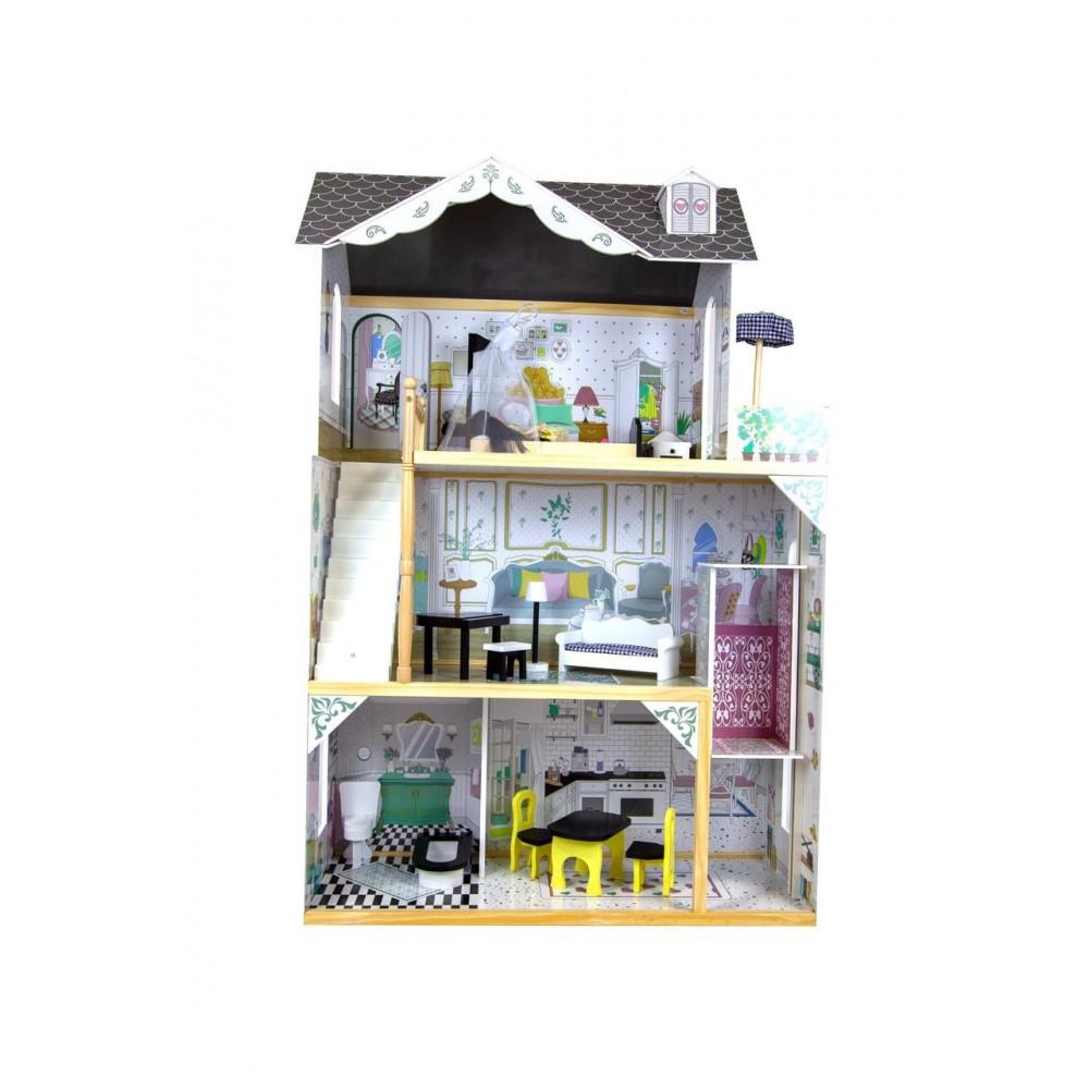 Деревянный кукольный домик Avko Вилла Лацио + лифт