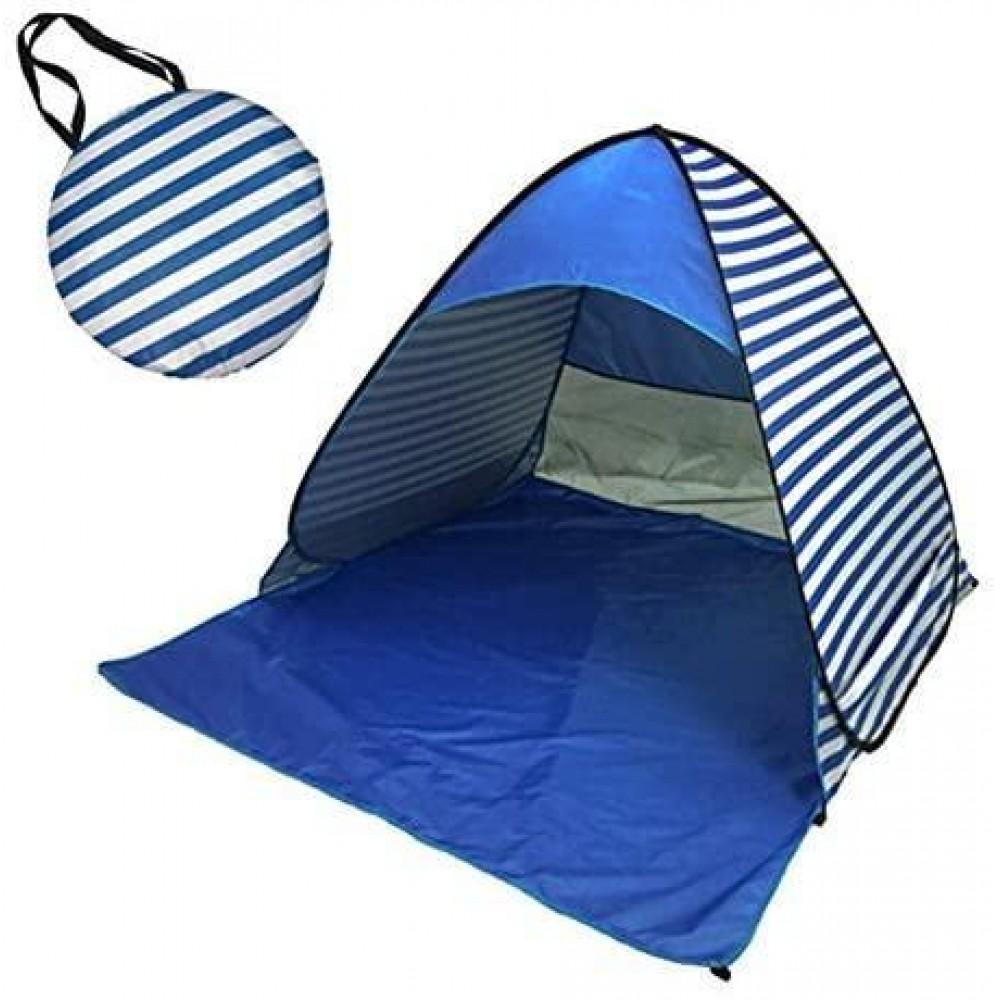 Палатка пляжная Stripe синяя 150/165/110 см, автоматическая