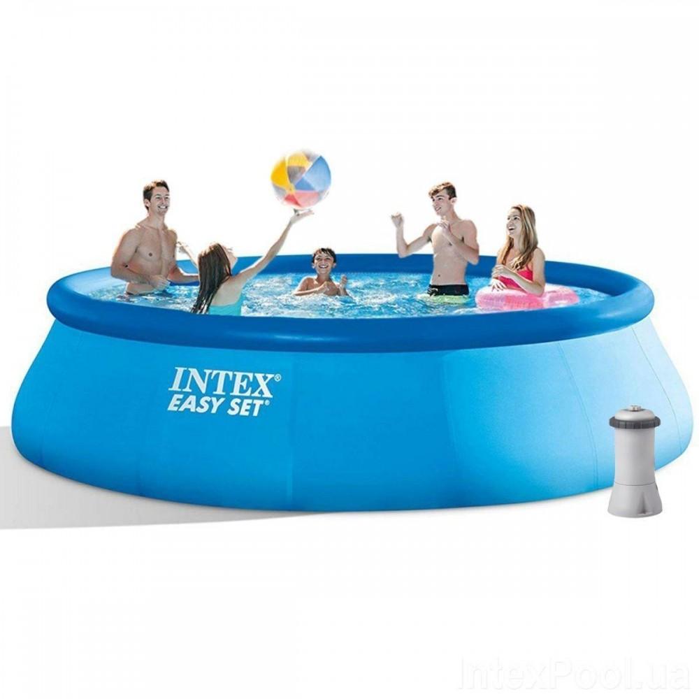 Надувной бассейн Intex 28158, 457 х 84 см