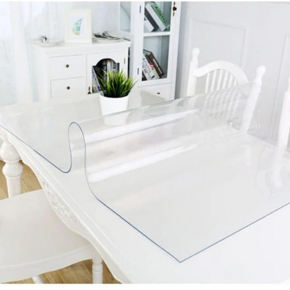 Силиконовая скатерть Soft Glass, 1.3х1.4м, толщина 1.5 мм