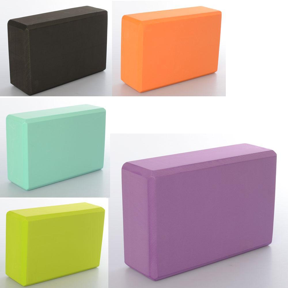 Блок для йоги EVA 22.5 х 8.0 х 15 см 180 гр, фиолетовый