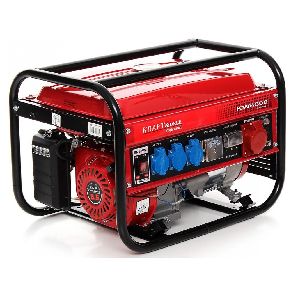Генератор бензиновый Kraft & Dele KD130 4,5 кВт, 3 фазный